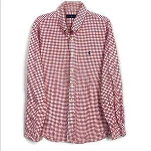 Polo Ralph Lauren Red Check Long Sleeve Shirt XL